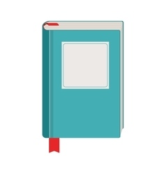 Book with blue cover and separator vector