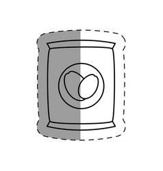 Coffee bag product icon vector
