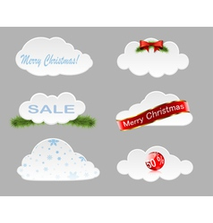 Christmas clouds vector