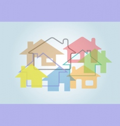 home abstract vector image