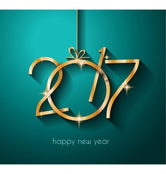 2017 Happy New Year Background for your Flyers and vector image