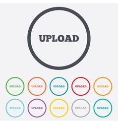 Upload sign icon load symbol vector