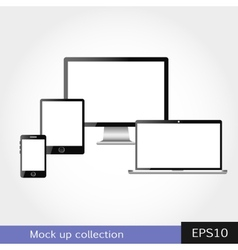 Modern design in responsive website vector