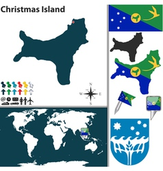 Christmas island world map vector