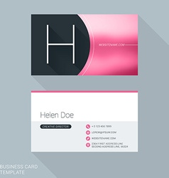 Creative business card template letter h flat vector