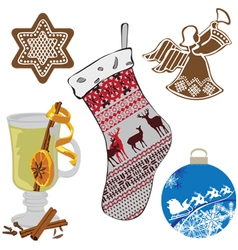 A set of objects representing the new year vector