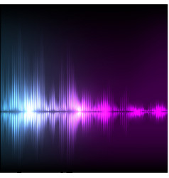 Abstract equalizer background blue-purple wave vector