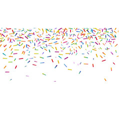 Bright colorful confetti background vector