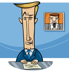 broadcaster on television cartoon vector image