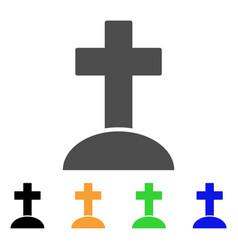 cemetery cross flat icon vector image