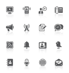 communication icons vector image vector image
