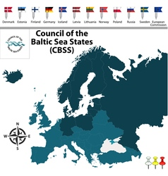 Council of the baltic sea states vector