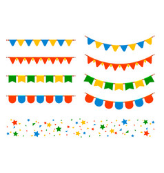 flags and garlands vector image vector image