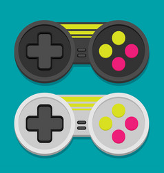 Flat joystick icon set vector
