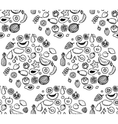 Fruit Doodle Seamless Pattern vector image vector image