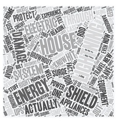 House energy shield text background wordcloud vector