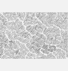 image cracks shaded in the style of doodle vector image vector image