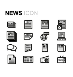 line news icons set vector image