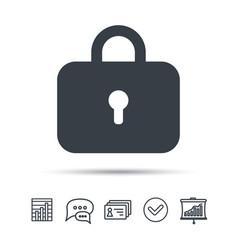 Lock icon privacy locker sign vector