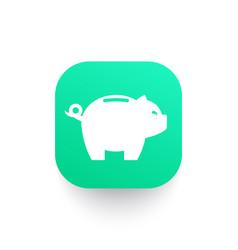 Moneybox piggy bank icon vector