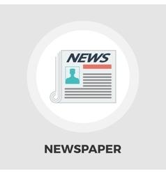 Newspaper icon flat vector