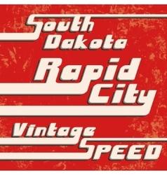 Rapid city vintage stamp vector image