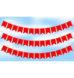 Red bunting vector