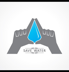 Save nature concept with water drop vector