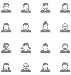Simple icons of users vector image