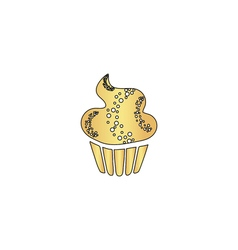 Sweet cupcake computer symbol vector