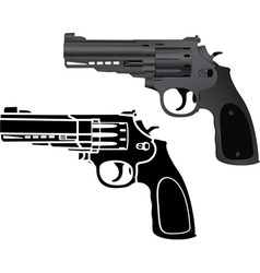 two pistols vector image vector image