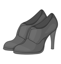 Women shoes on platform icon vector
