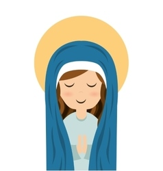 virgin mary cute icon vector image