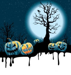 Halloween moonlight vector