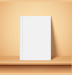 Empty white book template vector