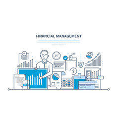 Management analysis market research deposits vector