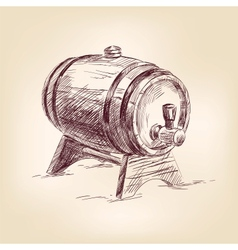 Cask of wine drawing vector
