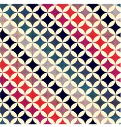 Seamless geometric circles pattern vector