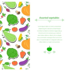 Vegetables background vector