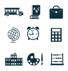 School isolated icons vector