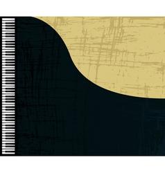 grunge piano profile vector image
