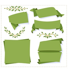 Collection paper origami banner vector image