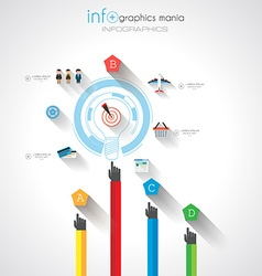Flat ui design concepts for unique infographics vector