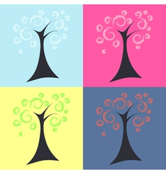 Trees four seasons vector