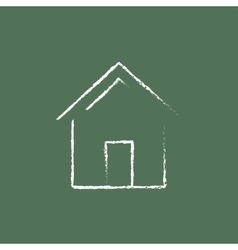 House icon drawn in chalk vector