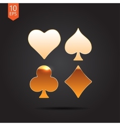 Game cards icon epsgold0 vector
