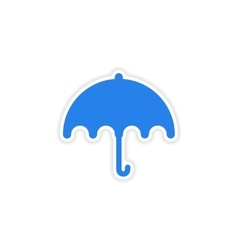 Icon sticker realistic design on paper umbrella vector