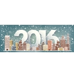 2016  winter urban landscape vector