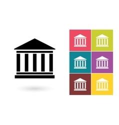 Bank icon or bank symbol vector image