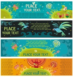 magical banners vector image